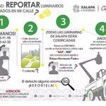 ¿Cómo reportar fallas en las luminarias? @americozuniga @AlumbradoXal @ComSocialXalapa https://t.co/BDJhwIK689