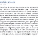 """El """"problema"""" de Uber en Barranquilla tiene dos responsables: los taxistas y la Administración distrital. https://t.co/0mbcSCzejH"""