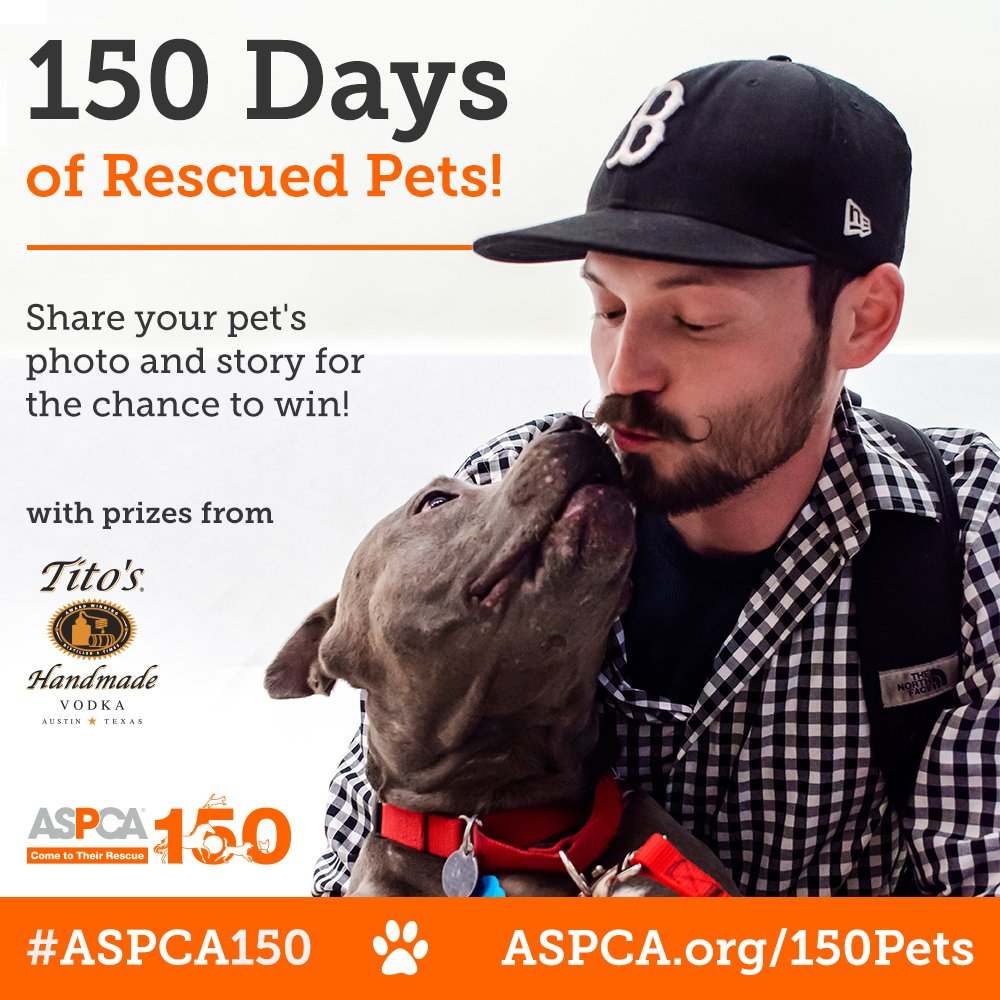Celebrate 150 years of @ASPCA by showing off your #rescue pet!