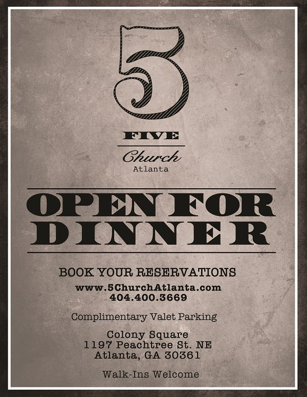 @5ChurchATL is now open for dinner seven days a week beginning at 5 p.m. with complimentary valet! https://t.co/fB4Fg9hyWl