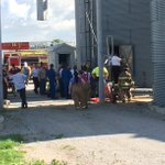 UPDATE   Rescuers have pulled a man who fell into a grain bin to safety. https://t.co/CIpU76f1ob https://t.co/gGSRcXyCCX