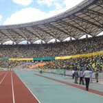 The loyal @Yanga1935 fans are filling the stadium as they prepare to cheer their team against @TPMazembe #CAFCC https://t.co/nxaDOsgHPM