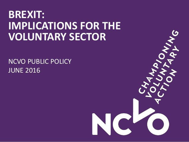 Implications of Brexit for charities/community grps - download/share our 1st briefing (pdf) https://t.co/eruzPcmwrB https://t.co/8k5wNO5pi1