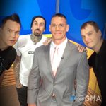 Studio selfie with @blink182 and @JohnCena! ???????????????? https://t.co/t69PVLqdZr