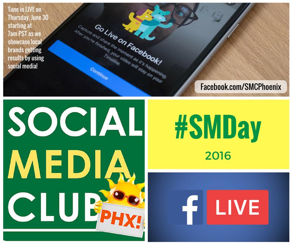 Celebrate #SocialMediaDay with @SMCPhoenix on Facebook Live! I'm kicking things off 7am PT https://t.co/PjOvoa8xhe https://t.co/8ROXbyqlwH