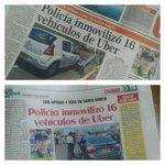 """Inmovilizados vehículos que prestan servicio UBER en #SantaMarta (mientras tanto taxistas dicen """"para alla no voy"""") https://t.co/z4c2wtvrWZ"""