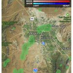 A few light showers are moving through the #LasVegas area this morning #weatherauthority @News3LV https://t.co/09xWnowTC0