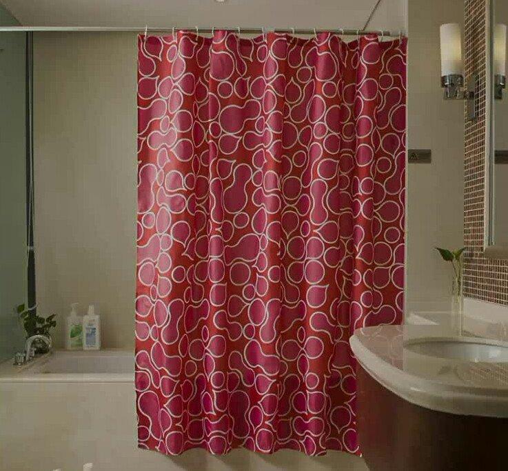 Simplife shower curtains free shower curtain rings hooks mildew resistant fabric waterproof/water-repellent (72 inch x72 inch, cobblestone) rings-n-rollers
