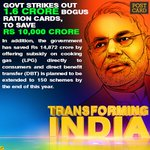 Modi Govts big crackdown on corruption, 1.6 crore bogus Ration card removed & it saved 10000 crore tax payers money https://t.co/vrrcbTtFrp