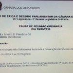 Conselho de Ética instaura agora processo contra Jair Bolsonaro por apologia à tortura. https://t.co/e1JX295f8X