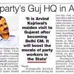 National newspaper piñoneer article about AAP Gujarat and @ArvindKejriwal s visit in Gujarat. https://t.co/xn8A1mgMBm
