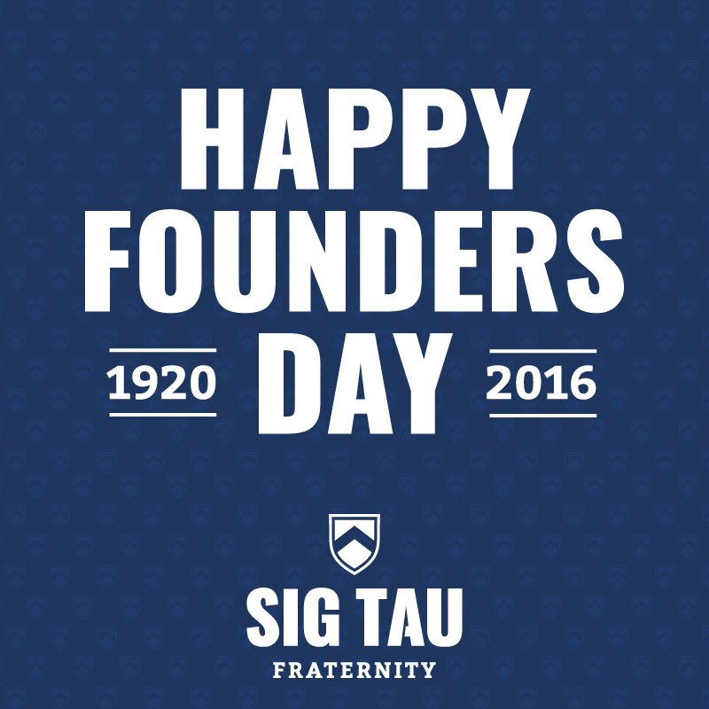 THANKFUL! For the 17 Noble Men that founded our Fraternity 96 years ago today. #SigTau #NobleMen https://t.co/DRsqsFOcM6