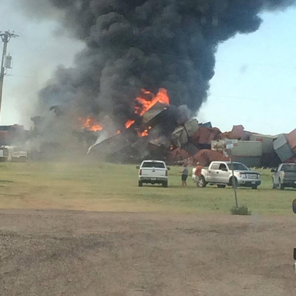 Train derailment in Panhandle causes large fire. Our crew is headed to the scene.  https://t.co/fUqIgW4CRq https://t.co/uCwIRJ7FlY