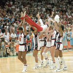 Pat Summitt gets carried off the court after leading USA to a gold medal in the 1984 Summer Olympics: https://t.co/12cXEV8kEG