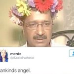 Kejriwal just wore a tiara made of flowers and Internet is losing it https://t.co/pRW0NHQl4y https://t.co/rIfghF3SLV