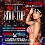 This Saturday, July 2nd ???? 4th Of July Weekend Celebration ???????????? #ATLRooftopParty ???? Indoor/Outdoor Rooftop Party x4 https://t.co/lE6utu6OMJ