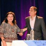 Presidente @MashiRafael felicita a la Viceprefecta del Guayas @MonicaBecerraC en su cumpleaños. ???????????? https://t.co/s4HSqI4vm6