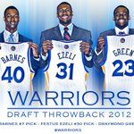Four years ago today, the Warriors selected @HBarnes, @fezzyfel & @Money23Green in the 2012 #NBADraft. #GSWHistory https://t.co/jAE5hrHwZp