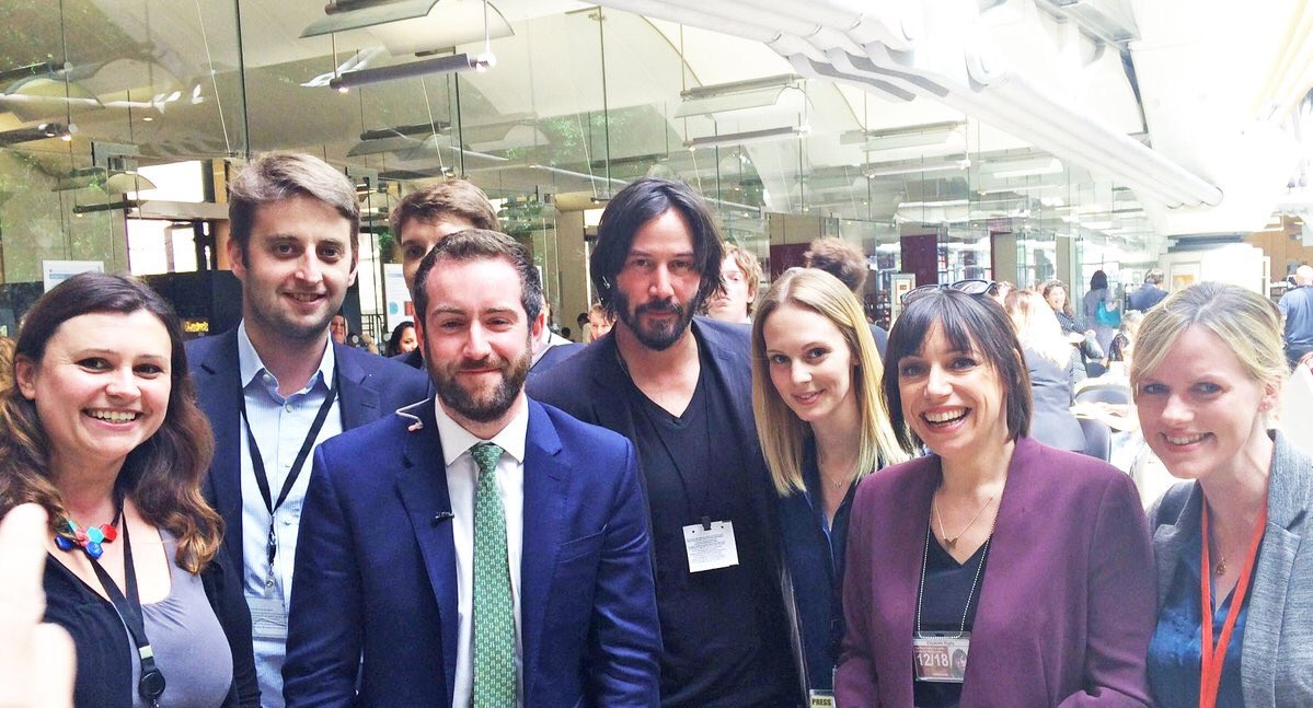 Keanu Reeves is at UK Parliament to help us turn the chaos into an Excellent Adventure. https://t.co/HFHUktqZFY