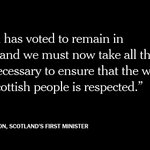 Scotland's first minister on a majority of Scottish voters wanting to remain in the EU https://t.co/dkQH8uxGdA https://t.co/vC0Mw3Etek