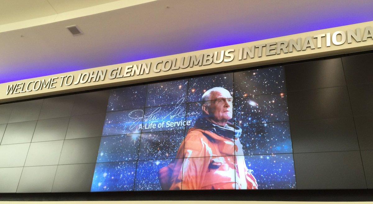 John Glenn hopes renaming of @PortColumbusCMH will inspire younger generations to explore aviation #CelebrateGlenn https://t.co/I0cLQzKz3G