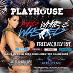 #PlayHouseAtlanta this Friday! #RedWhiteAndWasted  Ladies in 👙 Comp 🍾 All Night & Ladies FREE w/ RSVP! https://t.co/FIXoBS6uyX