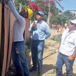 Equipo técnico @CNEL_EP #UnGuayaquil revisa instalaciones eléctricas en predios zona H de Coop. Flor de Bastión https://t.co/jHnXFHLB1p