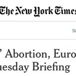 Brexit, Abortion OR Brexit Abortion? https://t.co/kdMxVdgwc9