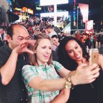 Who takes selfies of selfies? Only at #IDAELF16! In #TimesSquare w/ @DowntownJason & Kate from @DowntownDenver! #NYC https://t.co/VHDRP4fEav