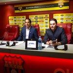 Listos @panchocevallosv y @AlfaroMoreno para iniciar la rueda de prensa en @BarcelonaSCweb https://t.co/ajmLZcE0L3