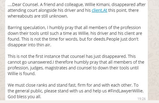 To all Lawyers on my TL #FindLawyerWillie https://t.co/Cu0kpe6xTu