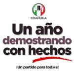 Un año demostrando con hechos #PRICoahuila ¡Un partido para tod@s! @PRI_Nacional https://t.co/dAA9SV5HuY