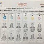 . @cnegobec presentó diseño de papeletas electorales para elecciones 2017. https://t.co/4VLnjpbB0F vía @vicenteopi