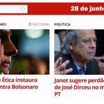 G1: Conselho de Ética instaura processo contra Bolsonaro / Janot sugere perdão da pena de Dirceu no mensalão do PT: https://t.co/Pk1BLvJwAU
