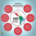 Estos son los puntos más destacado sobre el XXII Encuentro del Foro de Sao Paulo, San Salvador. (Telesur) https://t.co/g09fBJCIEd