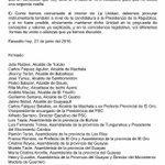 LA 6 PSC Y MDG A LOS CIUDADANOS  DEL ECUADOR Y A LOS INTEGRANTES DE LA UNIDAD SOBRE LAS CANDIDATURAS: https://t.co/7CorTklj4v