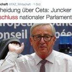 Juncker hat den Schuss nicht gehört! Statt #CETA-Alleingang der Kommission, brauchen wir mehr europäische Demokratie https://t.co/HIJvK9x3qE