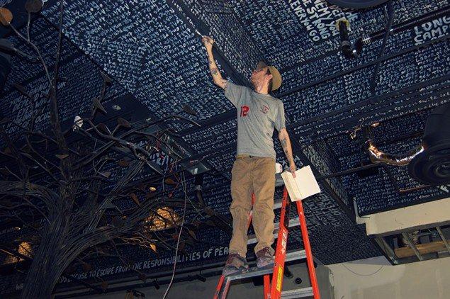 Meet the artist behind @5ChurchATL's strategic ceiling art: https://t.co/U6djpfIcA5 https://t.co/RUfz6oa8ss