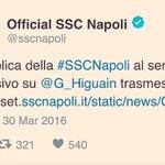 Ah... I poteri forti... #Higuain #Napoli https://t.co/rIOMP9iOCI