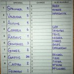 Heres how the #Astros will line up for tonights game! https://t.co/lBrt0u8zOJ