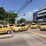 Las manifestaciones de taxistas ya terminaron pero aún quedan concentraciones en algunos puntos de la ciudad https://t.co/UsSqJQvF14