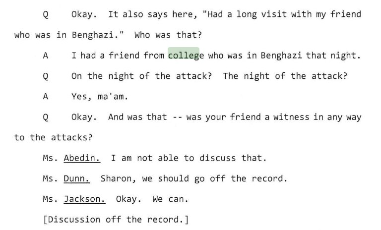 Weird nugget I had not heard before. From Huma Abedin's Benghazi Committee deposition. https://t.co/z7Y8aFoF34
