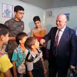 PM Al-Abadi visits a camp for IDPs from Anbar الدكتور العبادي خلال زيارته احد مخيمات تواجد نازحي الانبار https://t.co/yNRO79ENeI
