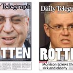 The Daily Telegraph releases two front pages #auspol #ausvotes https://t.co/5JXwiR7wi6