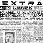 #NoticiasqueHicieronHistoria Portada del 1 de septiembre de 1939. ► https://t.co/mVwwk1IdQc https://t.co/oHKwgnDLMe