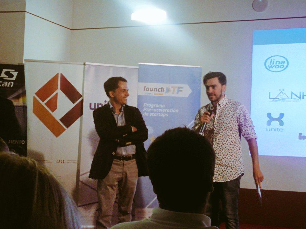 Primer premio #StartupNight 2016 es para @ZndrkeMusic ¡Muchas felicidades! #LaunchTF #startup #tenerife https://t.co/J9oDNcK3WM