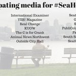 All of the #Seattle media outlets rallying for #SeaHomeless coverage tomorrow! @Q13FOX @seattleweekly @publicolanews https://t.co/xZHwLz3wek