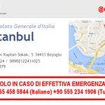 PLEASE RT [28.06-23:50] Se sei a #Istanbul #Turchia e necessiti di urgente supporto questi sono i riferimenti https://t.co/TGBzjCeglU