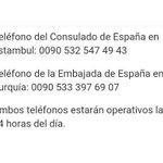Teléfonos de emergencia habilitados por @MAECgob tras el atentado de Estambul. https://t.co/jIoNUUEsXp