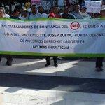 Personal de confianza de @sasmetro se unió a la manifestación del sindicato #JoseAzueta #Veracruz @RamonPooAlcalde https://t.co/2UU5HEuolk